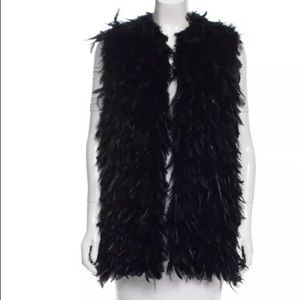 🎁Rachel Zoe sagely feather vest NWT one size
